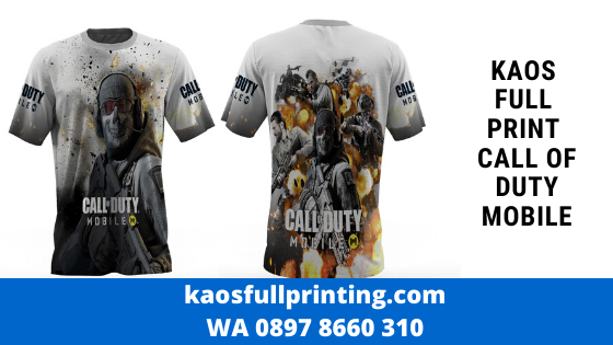 kaos full print bandung call of duty