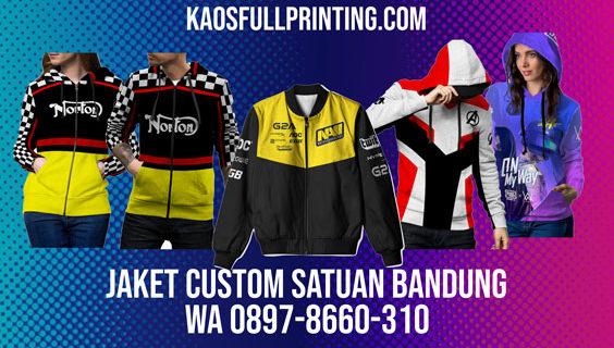 Buat Jaket Custom Satuan Bandung | WA 0897-8660-301