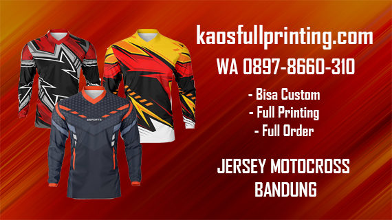Jasa Pembuatan Jersey Motocross | WA 0897-8660-310